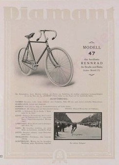 Diamant Rennrad Modell 47
