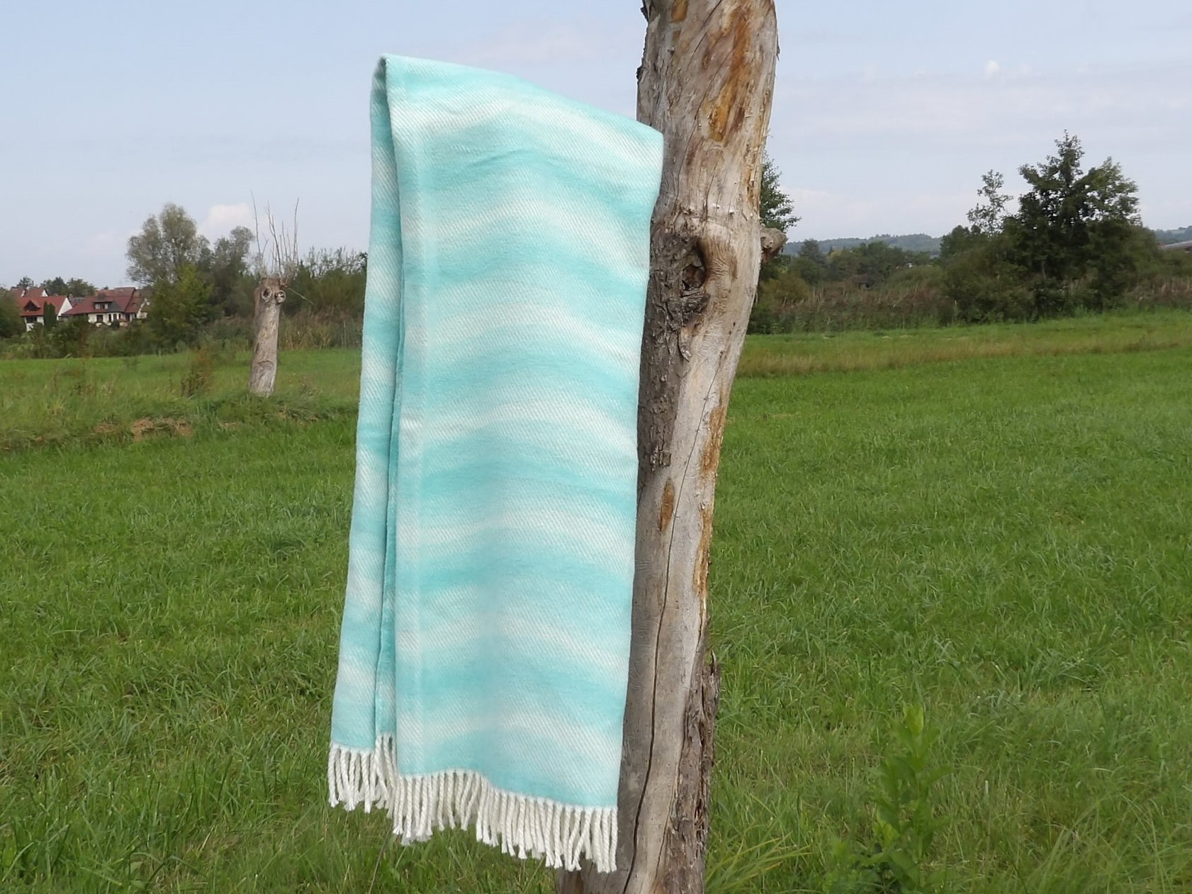 Baumwolldecke Grecia, Blau