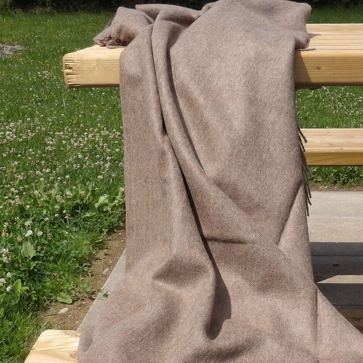 Baby Alpaka Decke Premium, Braun