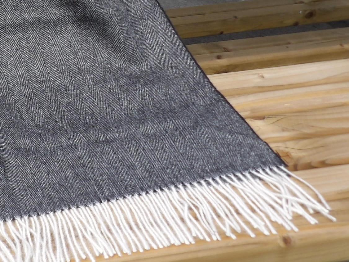 Baby Alpaka Premium Decke, Dunkelgrau