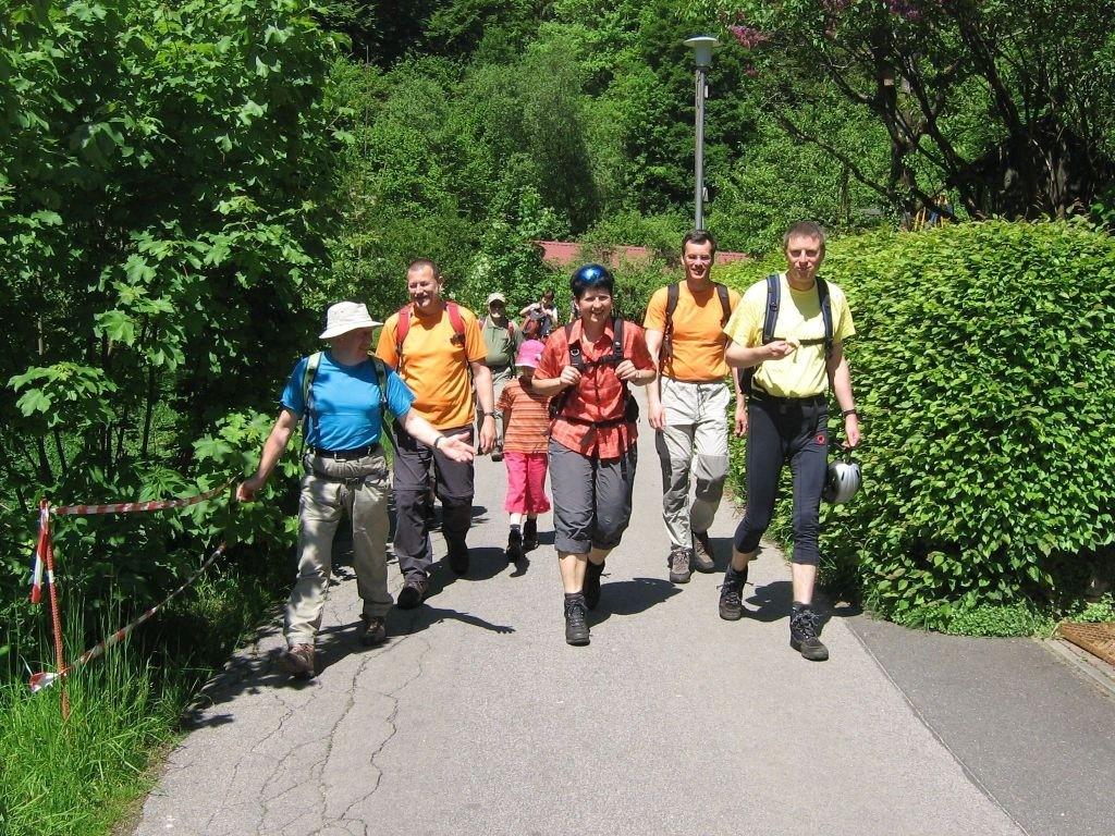 Zustieg zum Hohenglück Klettersteig (Hersbrucker Schweiz)
