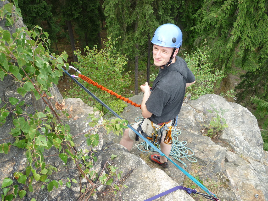 Klettern an der Teufelskanzel bei Greiz - unser Fotograf Thomas