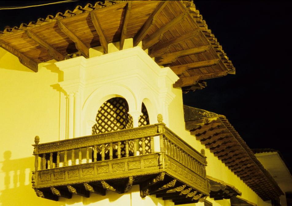 Kolonialarchitektur auf den Ruinen der Inkapaläste (Cusco)
