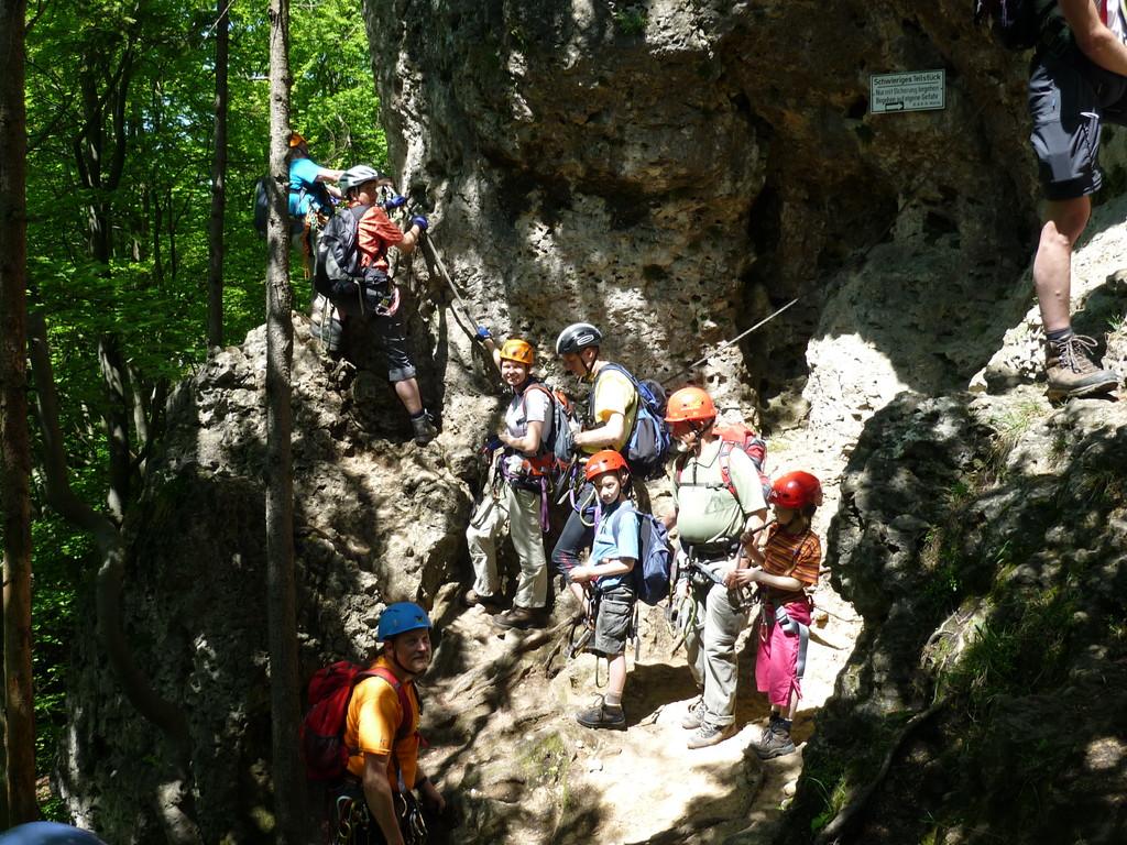 Klettersteigkurs am Hohenglück Klettersteig (Hersbrucker Scheiz)