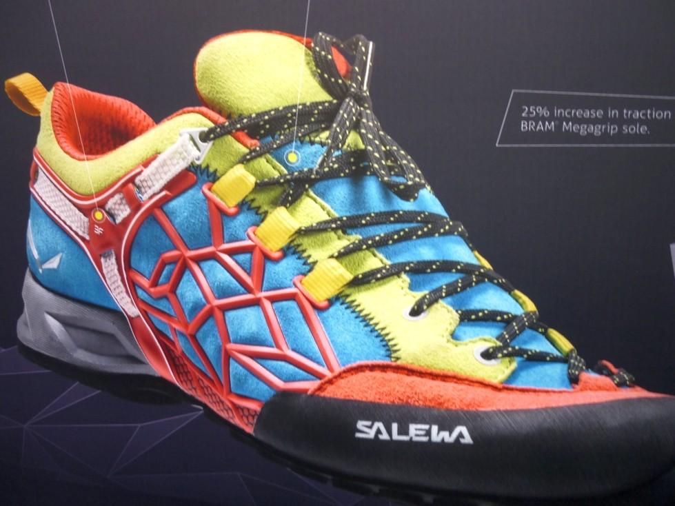 neuer Zustiegs- und Kletterschuh von SALEWA mit hervoragender Climbing Sohle