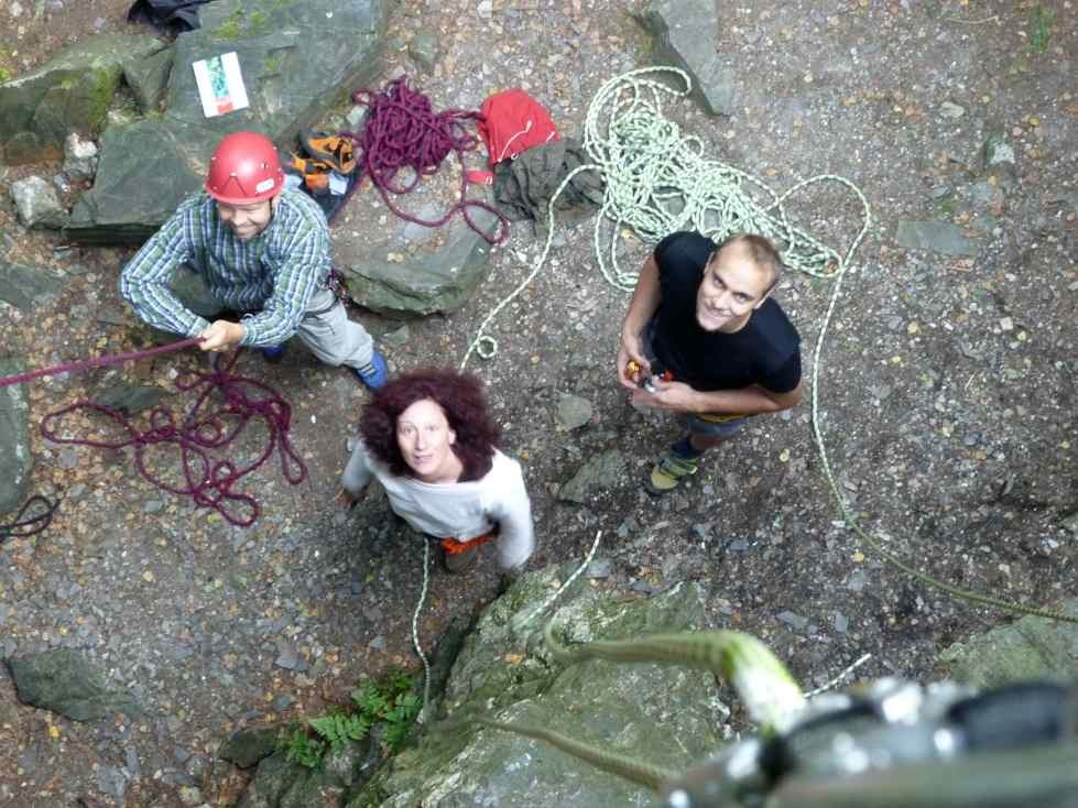 Mittwochstraining Klettern am Schwarzen Stein in Grünbach, Vogtland