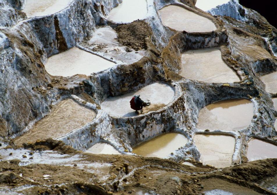 Salzgewinnung in den Salineras von Maras