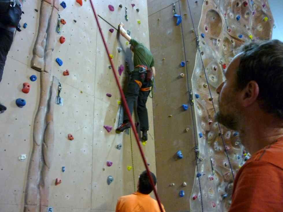 Samstagsklettern in der Hofer Kletterhalle im Sportpark Untreusee, 07.01.2012