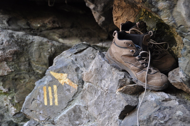 die Wanderstiefel haben wir gegen die Kletterpatschen vertauscht