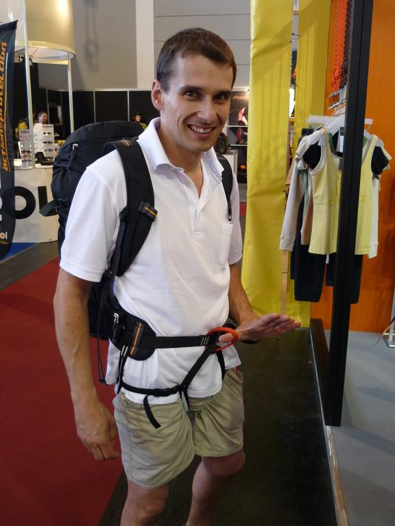 Rucksack von Skylotec mit integriertem Klettergurt für Tourengeher / Gletscherfahrten.