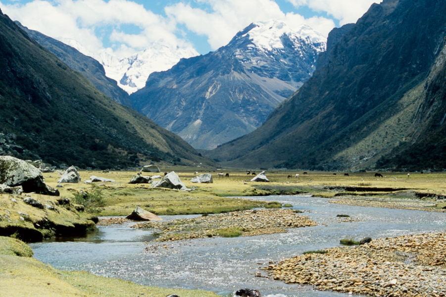 Blick in die Quebrada Quilcayhuanca (Cordillera Blanca)
