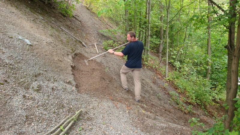 DAV Arbeitseinsatz im Klettergebiet Steinicht, 07.09.2011