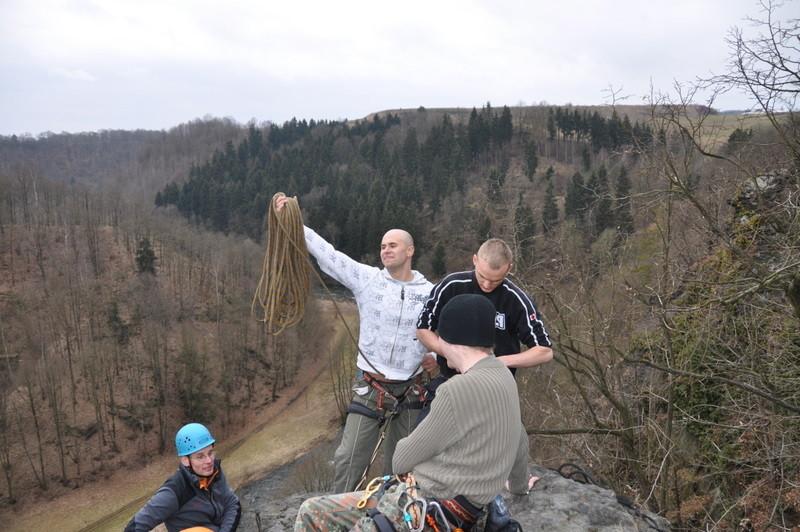 am Gipfel des Uhustein