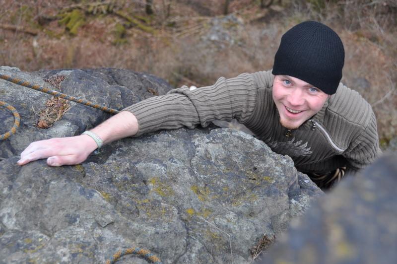 Jacob kurz vor dem Gipfel