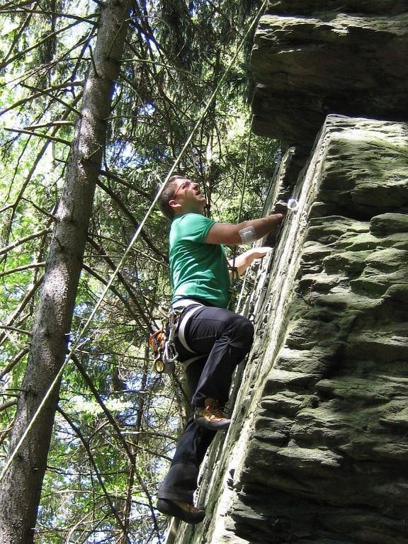Klettern bei Hof an der Fattigsmühle