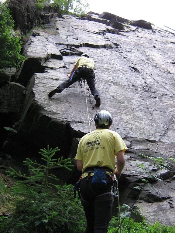 Klettern am Wendelstein in Grünbach-oberes Göltzschtal-Vogtland