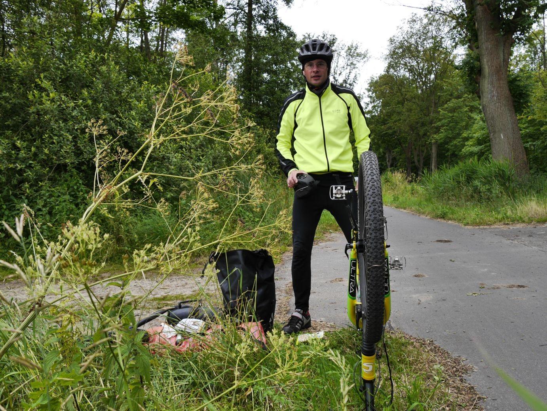 Reifenpanne kurz vor Liebenwalde