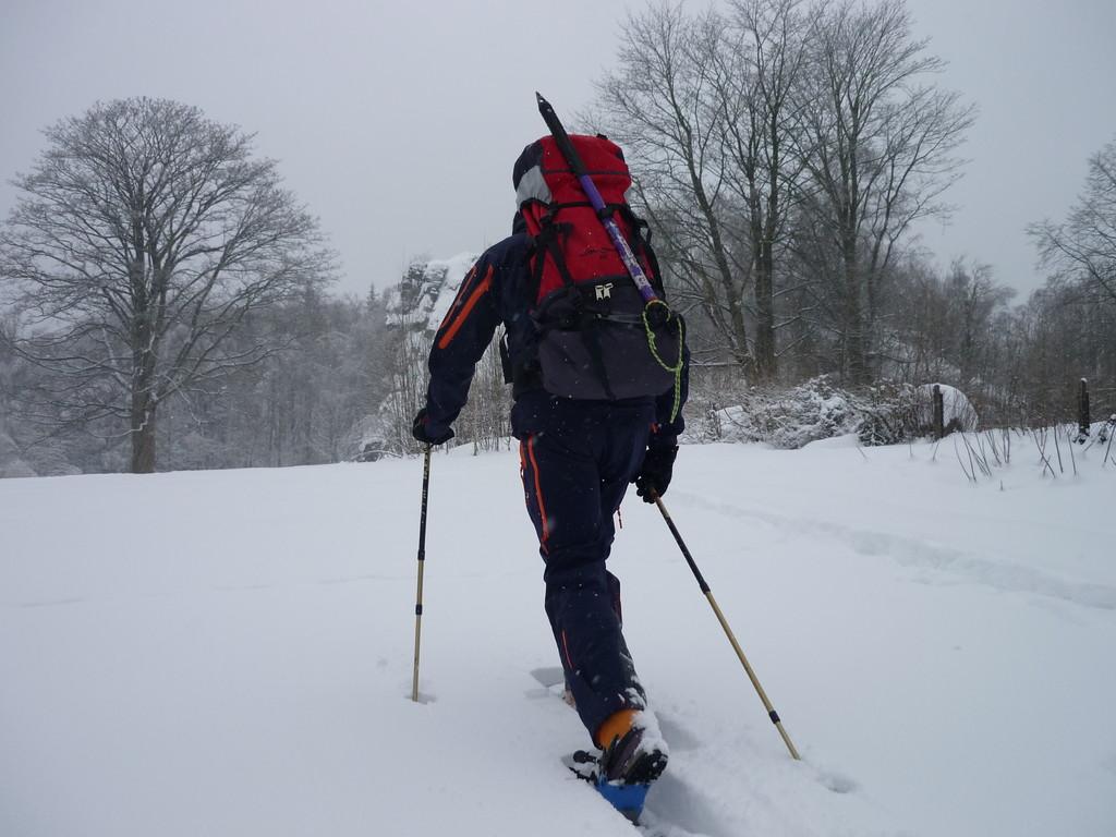 Start mit den Schneeschuhen in Falkenstein