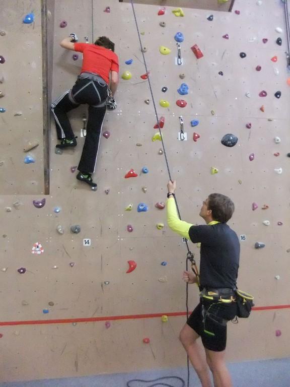 Silvester Indoor Klettern in der Hofer Kletterhalle