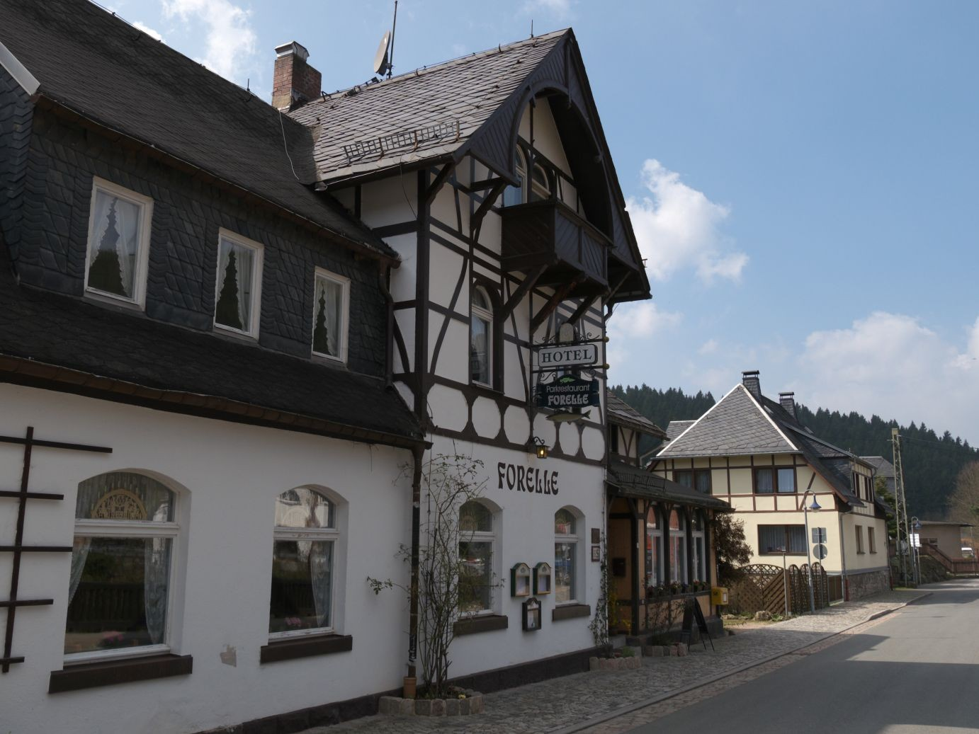 das traditionsreiche Restaurant Forelle in Blauenthal