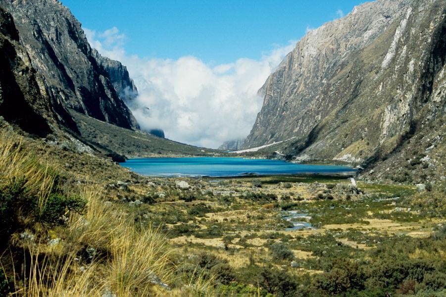 Llanganuco Tal mit den Lagunas Llanganuco