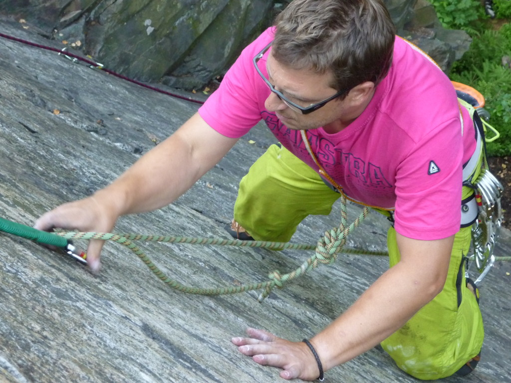Mittwochstraining am Wendelstein Grünbach - Lars schleicht die Platten hoch (Foto:J.Bartsch)