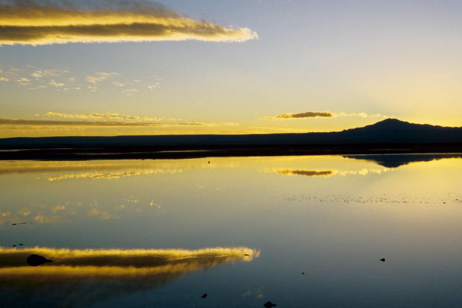 Sonnenuntergang im Salar de Atacama