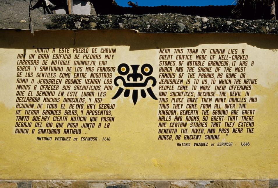 Außenmauer der Anlage (Complejo arqueológico Chavin de Huantar)