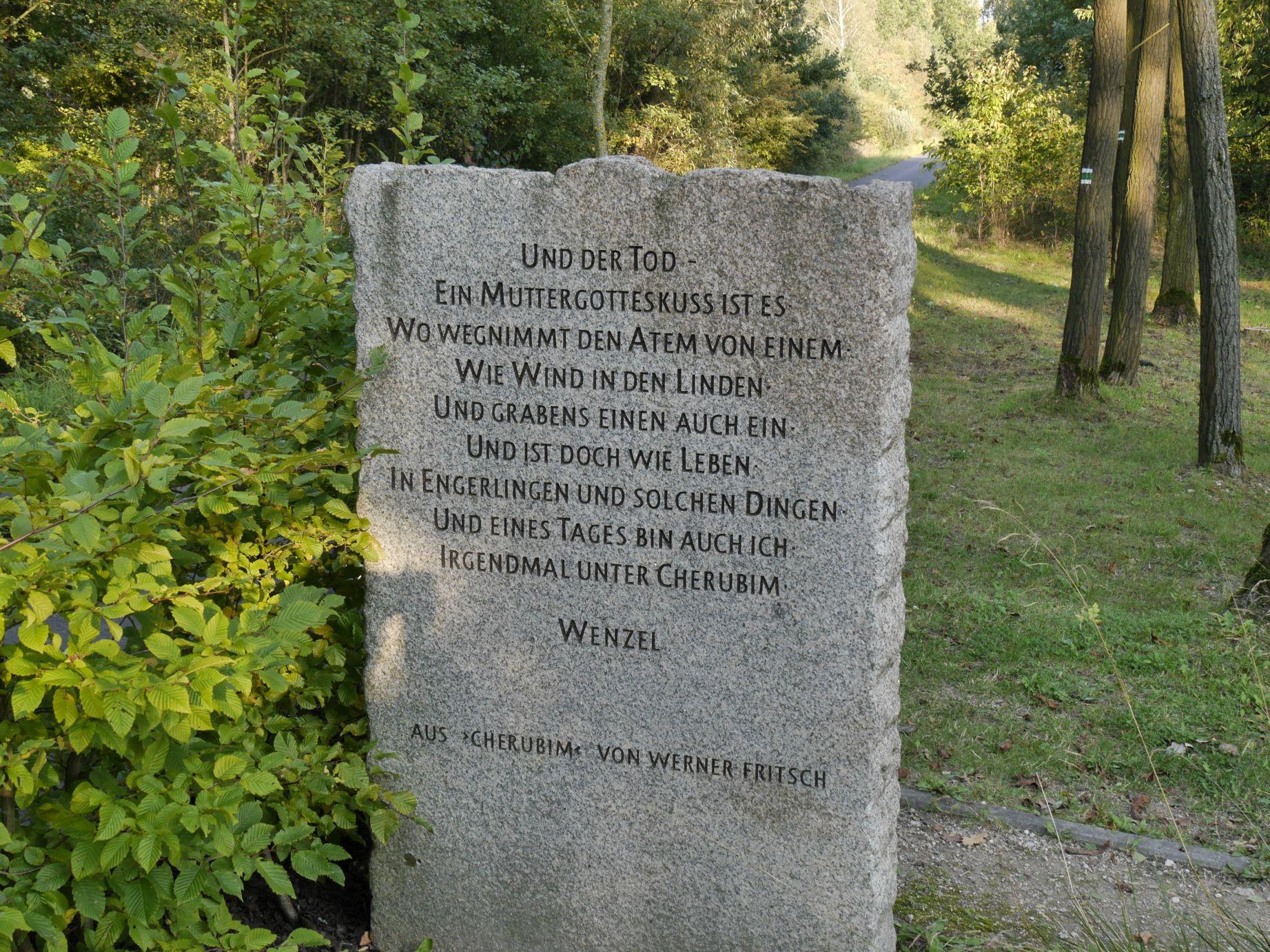 In Schönlind, einer deutschen Ortschaft, die nach dem 2. Weltkrieg dem Erdboden gleich gemacht wurde.