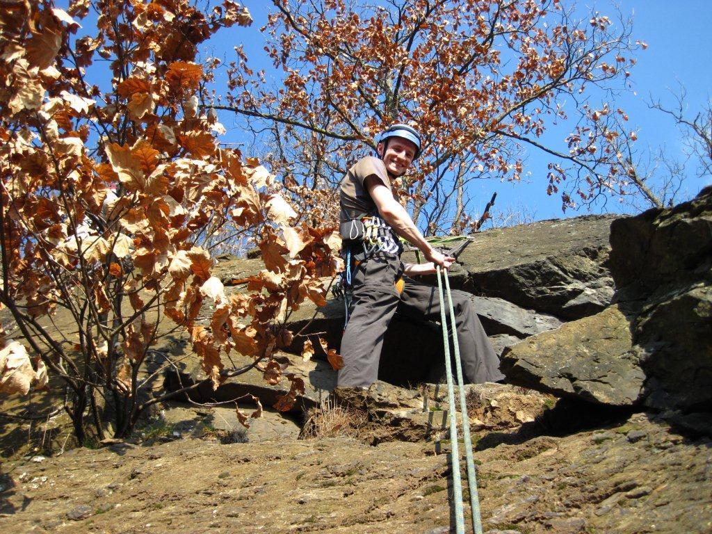 Anklettern im Klettergebiet Steinicht, 24.03.2012