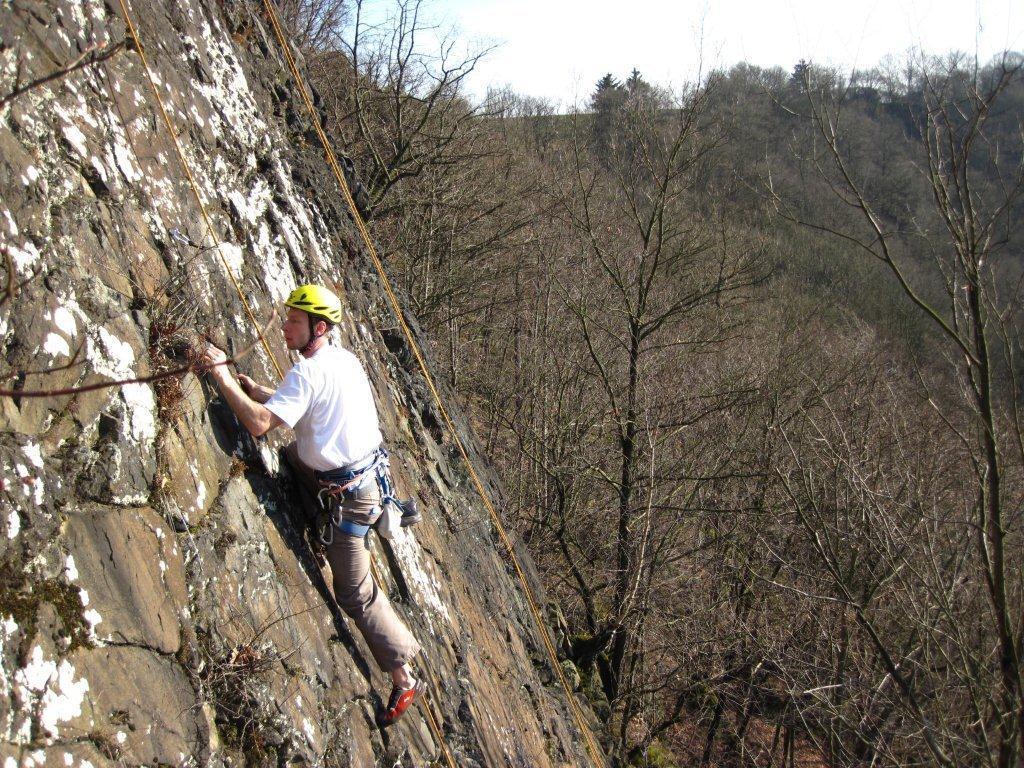 Klettern im Steinicht an der Septemberwand