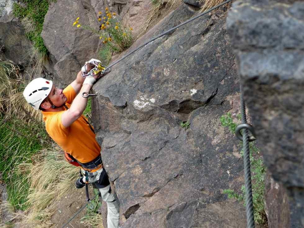 Klettersteigkurs Löwinger Steig und Sachsenstiege im Plauenschen Grund bei Dresden