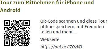 QR-Code von der Paddeltour im Spreewald, zum Mitnehmen für iPhone und Android