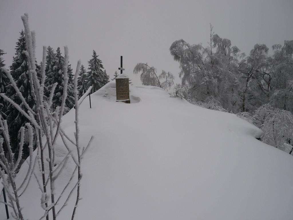 Unser Blick vom Grat zum Gipfel