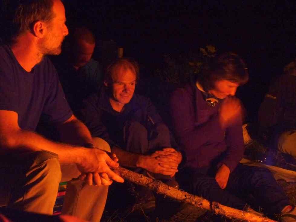 Lagerfeuerromantik zum Mittwochstraining am Wendelstein