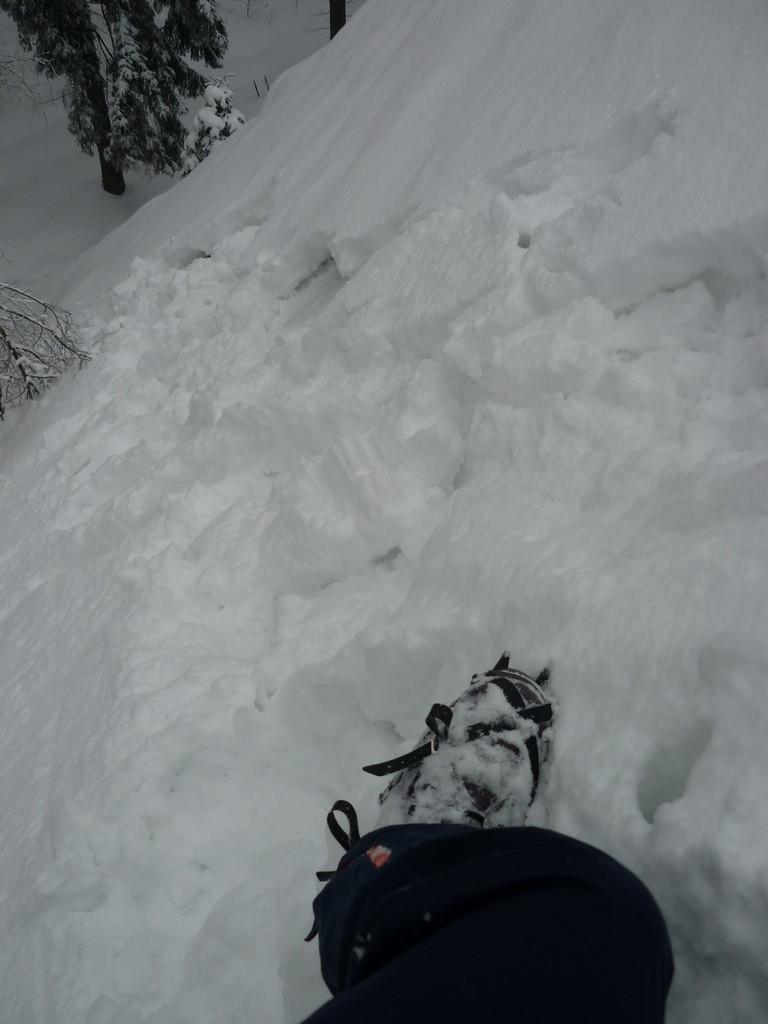 Unsere Kletteroute von oben