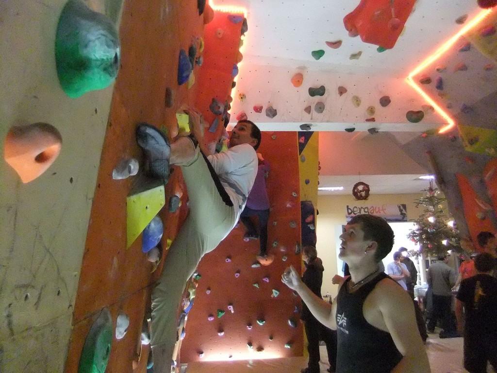 Mittwochstraining am Dienstag in der Boulderhalle Plauen, 03.01.2012