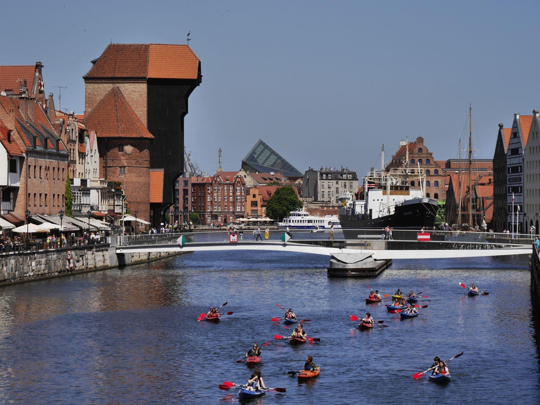 Am Ufer der Mottlau in Danzig (Gdansk)