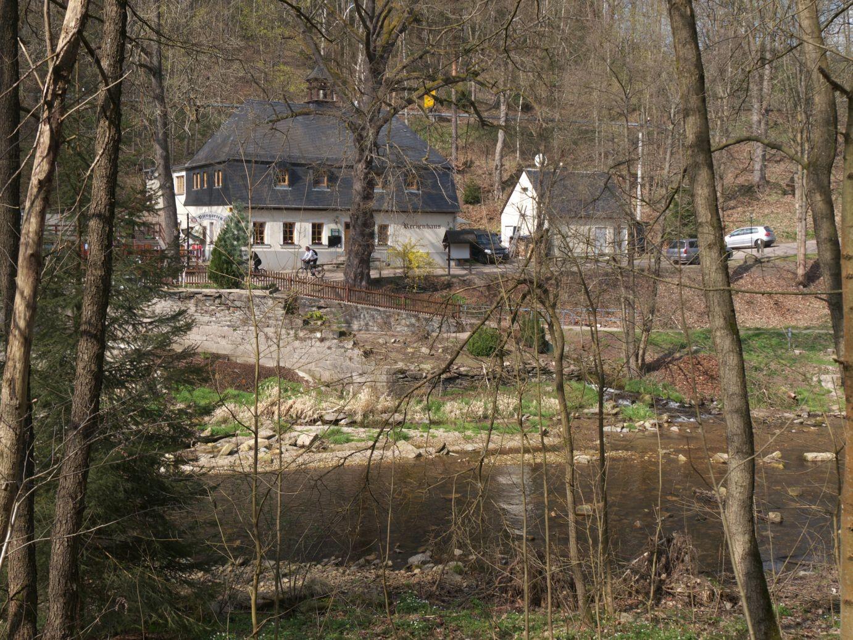 das Reschenhaus, eines der ältesten Gasthäuser Sachsens und früher Dienstwohnung des Grabenmeisters