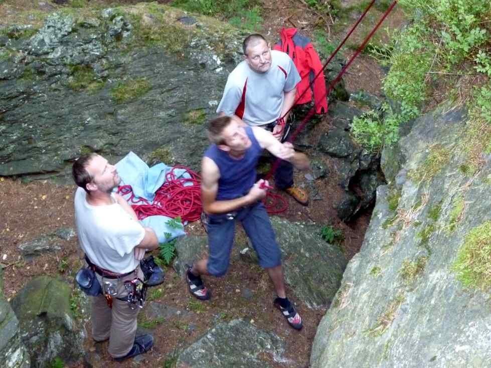 Routenerklärung und Tipps geben - Klettern am Schwarzen Stein