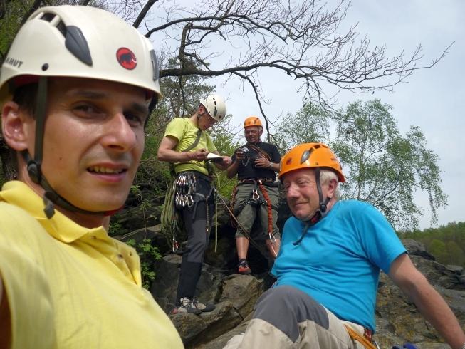 Klettern am Dornbusch im Klettergebiet Steinicht