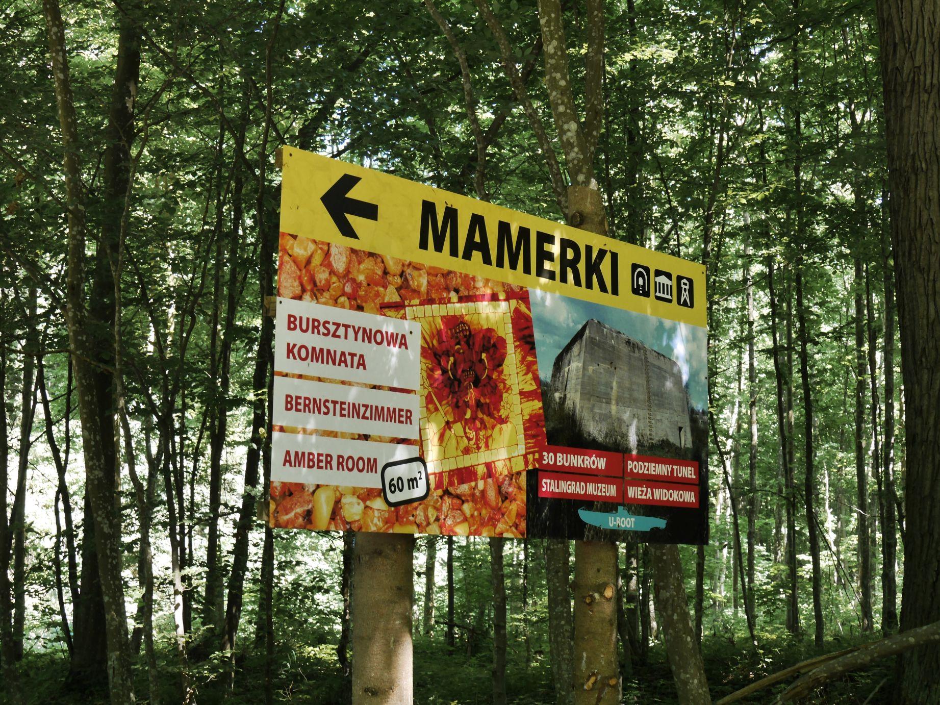 OKH in Mauerwald (Mamerki), heute ein Touristenmagnet