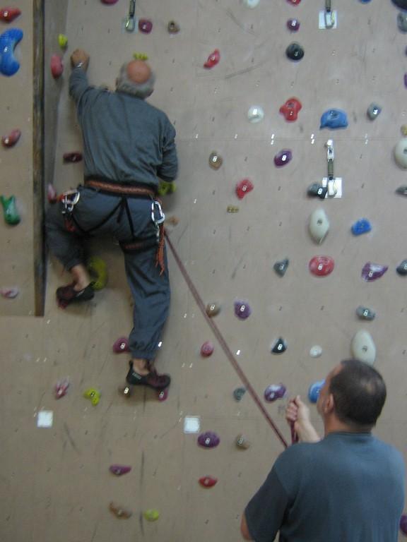 Kletterhalle Hof Untreusee - Hallenklettern und Flugtraining der Mittwochstrainingsgruppe