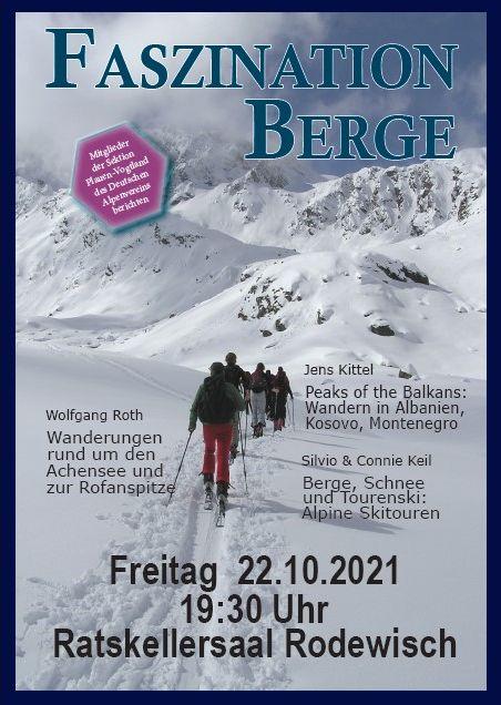 """""""Faszination Berge"""" am 22.10.2021 in Rodewisch"""
