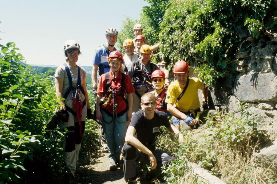 unsere Gruppe nach einem gelungenen Klettersteigkurs
