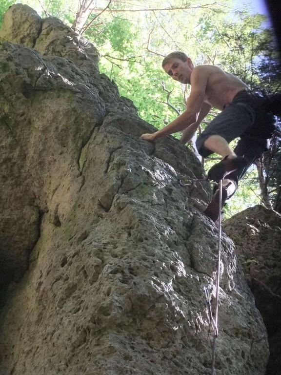 Klettern an den Graischer Bleisteinwänden