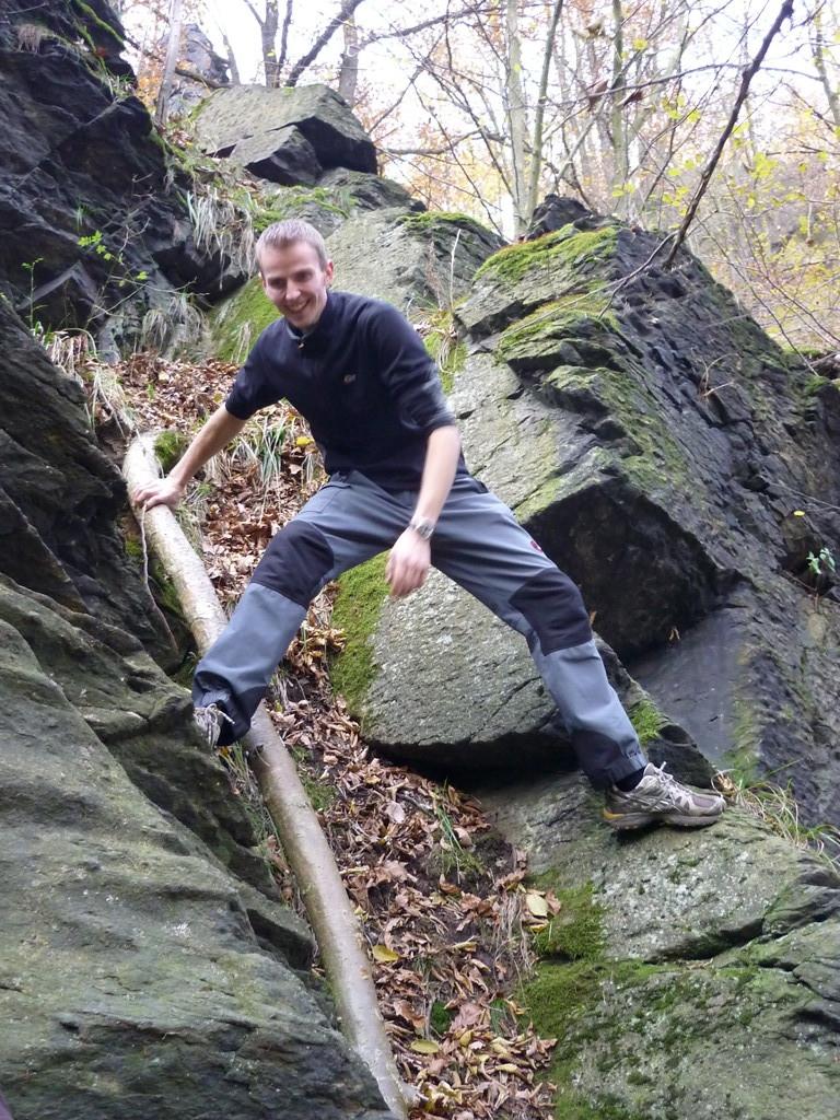 Georg beim Abstieg