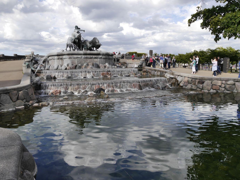 Gefion Brunnen, der die Sage von der Entstehung der Insel Seeland erzählt