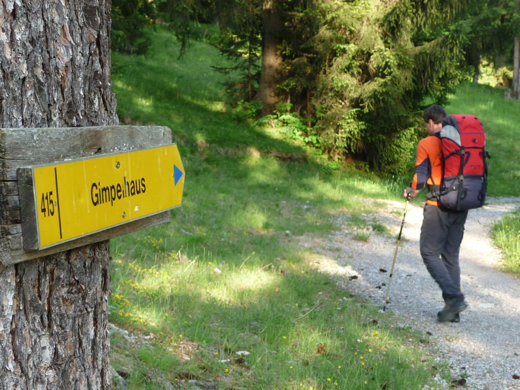 Ausgangspunkt unserer Trainerfortbildung ist Nesselwängle, von wo es über das Gimpelhaus zur Tannheimer Hütte geht