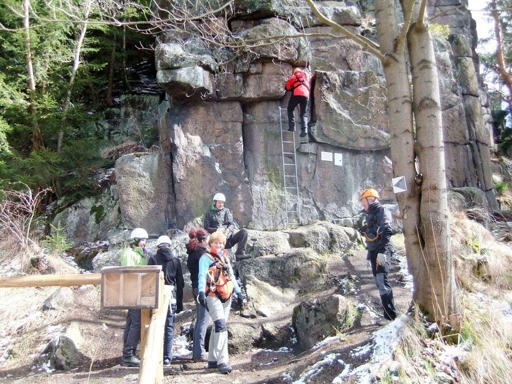 Klettersteig Erlabrunn, kein April Scherz !